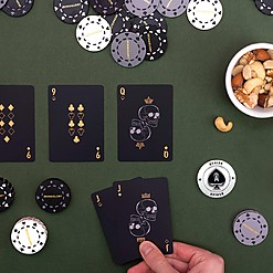 Juego de póker deluxe en caja de madera