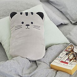 Bolsa de agua caliente con funda en forma de gatito
