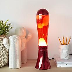 Lámpara de lava metalizada