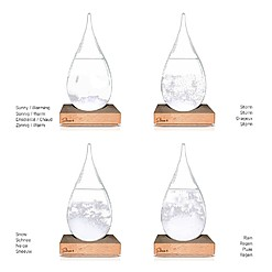 Storm Glass: el predictor del tiempo de cristal grande