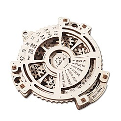 Kit para construir un calendario mecánico de madera