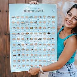 Lámina rascable con 100 sabores para comerte el mundo