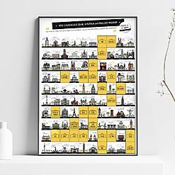 Lámina rascable con 100 ciudades para visitar antes de morir