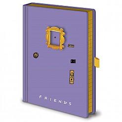 Cuaderno con forma de puerta lila de Friends