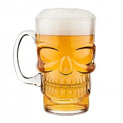 Jarra para cerveza con calavera