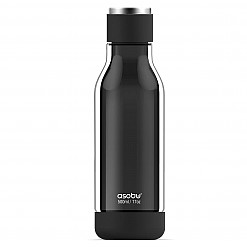 Botella de vidrio con revestimiento irrompible