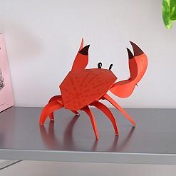 Cancridae, figura de papel buey de mar 3D de Plego