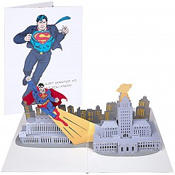 Tarjeta 3D Pop-Up Superman