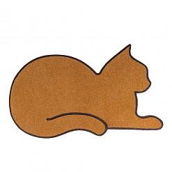 Felpudo original con forma de gato