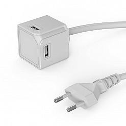 USBCube con alargador y cuatro puertos USB