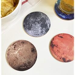 Juego de posavasos con planetas impresos