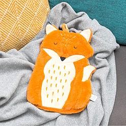 Bolsa de agua caliente original con forma de zorro