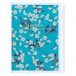 Agenda A6 2022 de diseño floral japonés