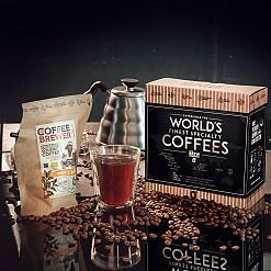 Caja de regalo con los 5 mejores cafés del mundo