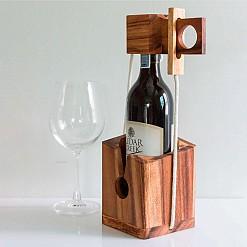 Rompecabezas para encerrar botella de vino