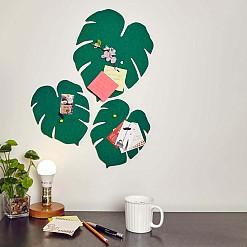 Set de 3 corchos de pared originales hojas