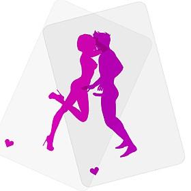 """Juego de Cartas Eróticas Transparentes """"Superposes"""""""