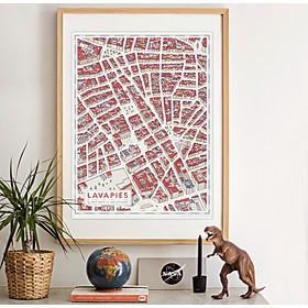 Mapa de Lavapiés