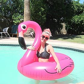 Flotador gigante con forma de flamenco rosa