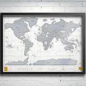 Mapa de Rascar Transparente