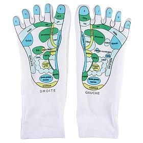 Calcetines para das masajes de reflexología