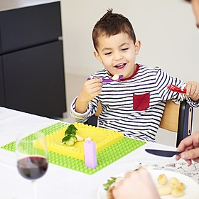 Curiosite Vajilla Infantil Compatible con Lego Duplo Placematix