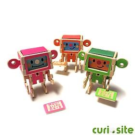 Tarjeta de Felicitación Robot de Madera