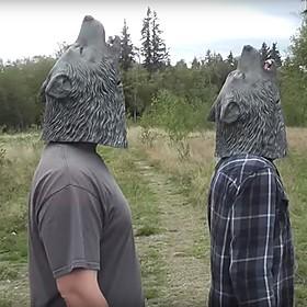 Máscara de Lobo Aullando