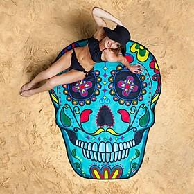 Toalla de playa gigante con forma de calavera mexicana