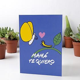 Tarjeta de Felicitación Mamá te Quiero