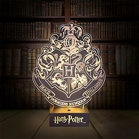 Lámpara 3D Harry Potter Hogwarts Crest