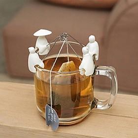 Soportes para bolsitas de té con forma de pescadores chinos