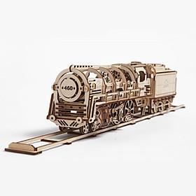 Kit para construir una locomotora mecánica de madera
