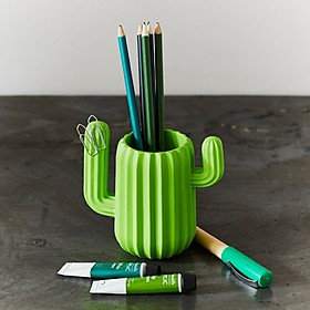 Organizador de escritorio con forma de cactus