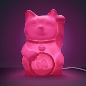 Lámpara Gato de la Suerte Rosa