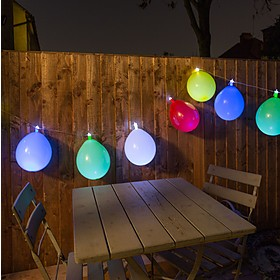 Guirnalda de Luces Globos de Colores