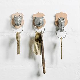 Colgador de llaves con forma de animales salvajes