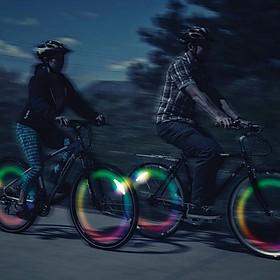 Luz que cambia de Color para Rueda de Bicicleta