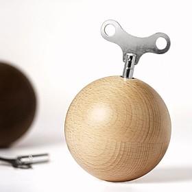 Caja de música esférica de madera de haya