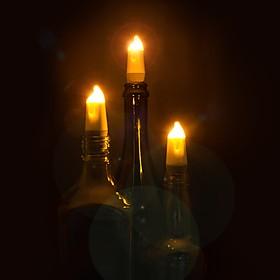 Tapón de Luz LED para Botellas Vela