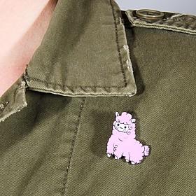 Pin Alpaca Rosa
