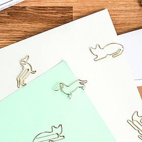 Clips Metálicos Gato y Perro