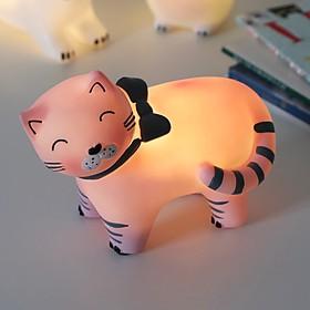 Luz de noche con forma de gatito con lazo
