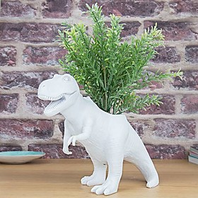 Maceta original con forma de dinosaurio T-Rex