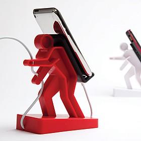Soporte para el móvil con forma de escalador