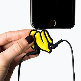 Adaptador para compartir auriculares con forma de banana