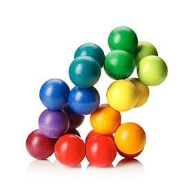Juguete antiestrés de esferas de madera
