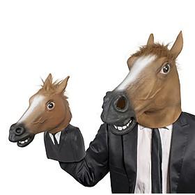 Marioneta de mano con forma de máscara de caballo