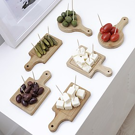 Mini tablas de cocina para servir el aperitivo