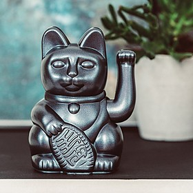 Gato de la suerte japonés móvil en colores metalizados